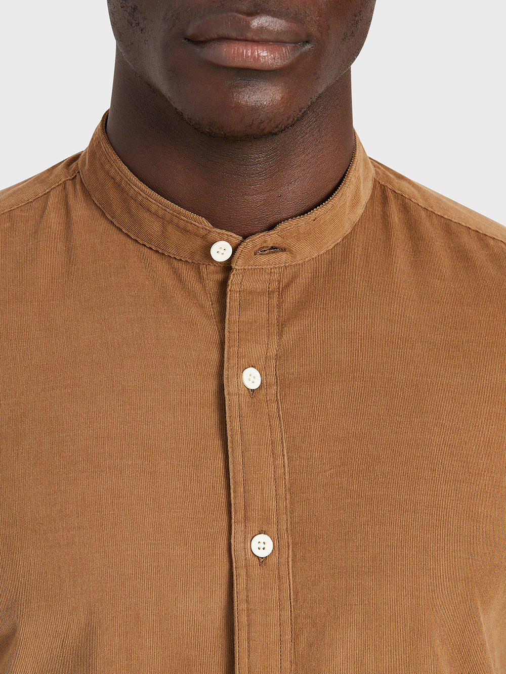 ONS Clothing Men's shirt in COFFEE