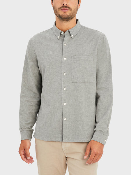 ONS VANCE SHIRT HEATHER GREY