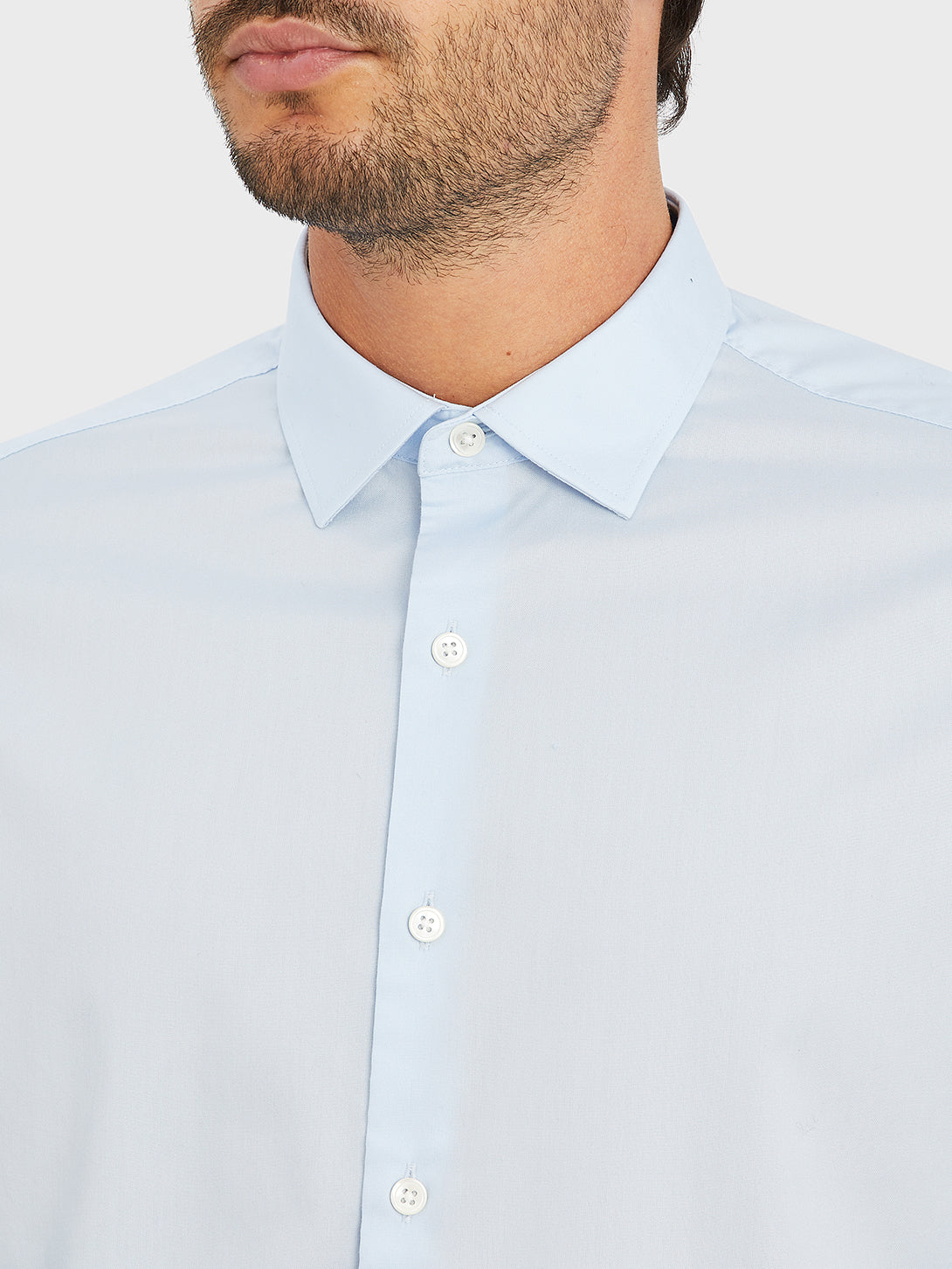 black friday deals ONS men's clothing ADRIAN PINPOINT OXFORD SHIRT LT. BLUE