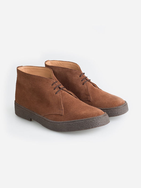BROWN Popboy Chukka suede shoes - George Cox