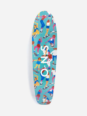 MULTI-COLOR VENICE SKATEBOARD DECK ONS X LEAH GOREN