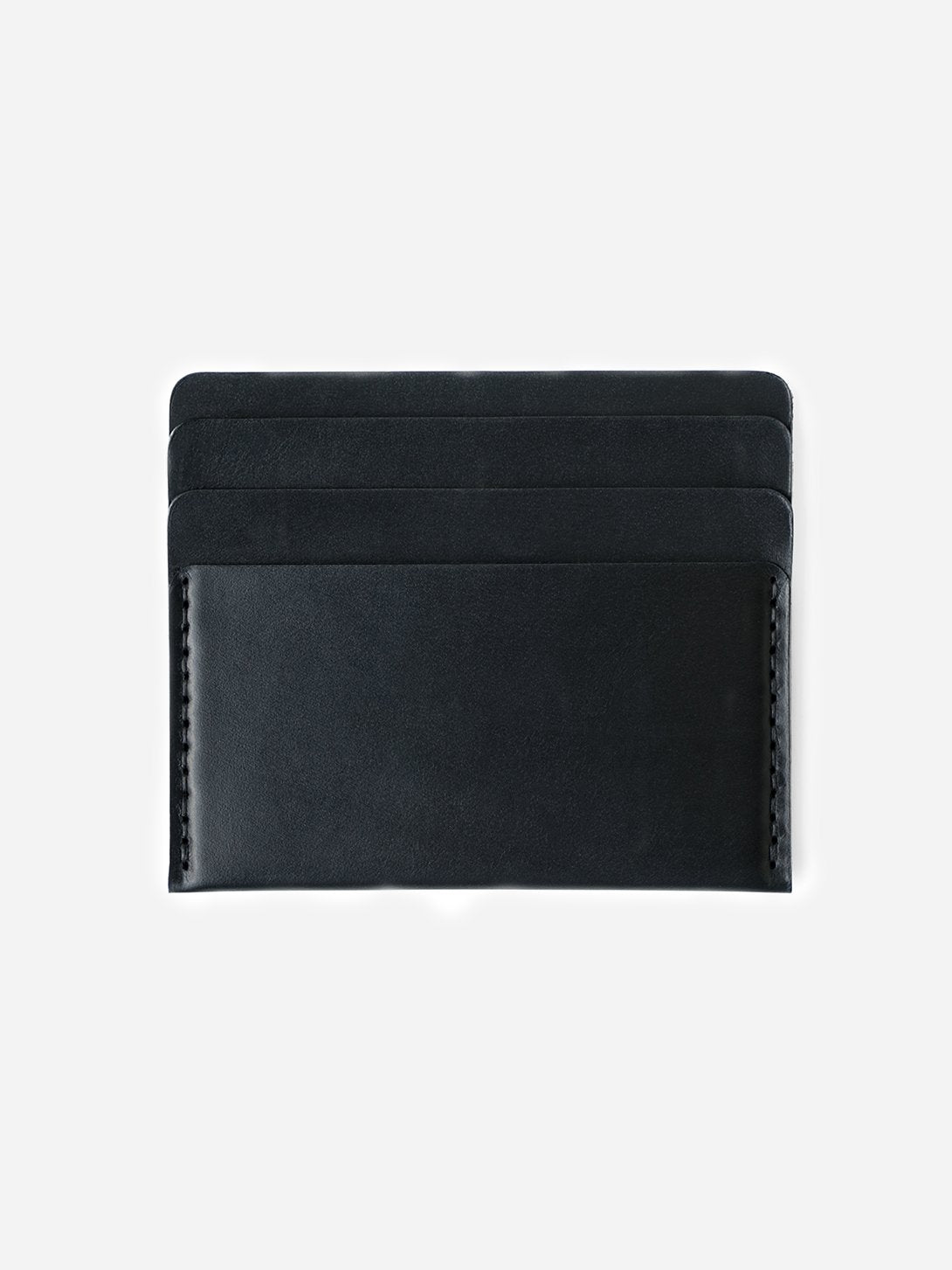 BLACK mens card holder brown leather wallet cascade wallet makr