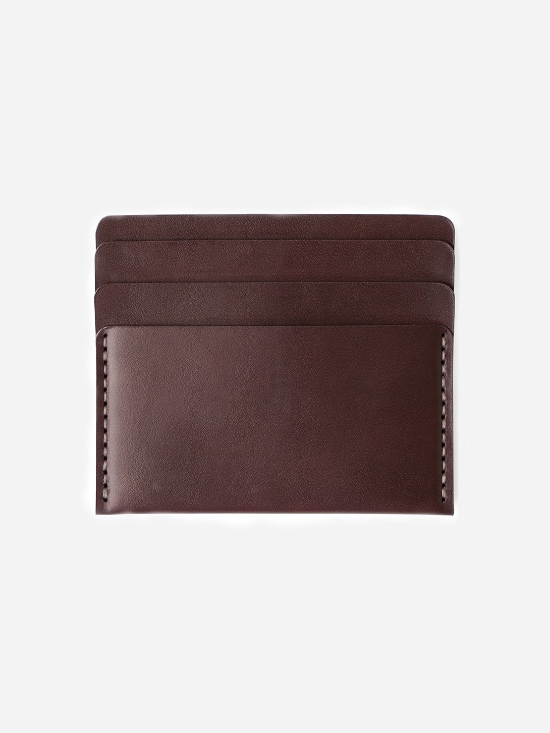 OX BLOOD mens card holder brown leather wallet cascade wallet makr