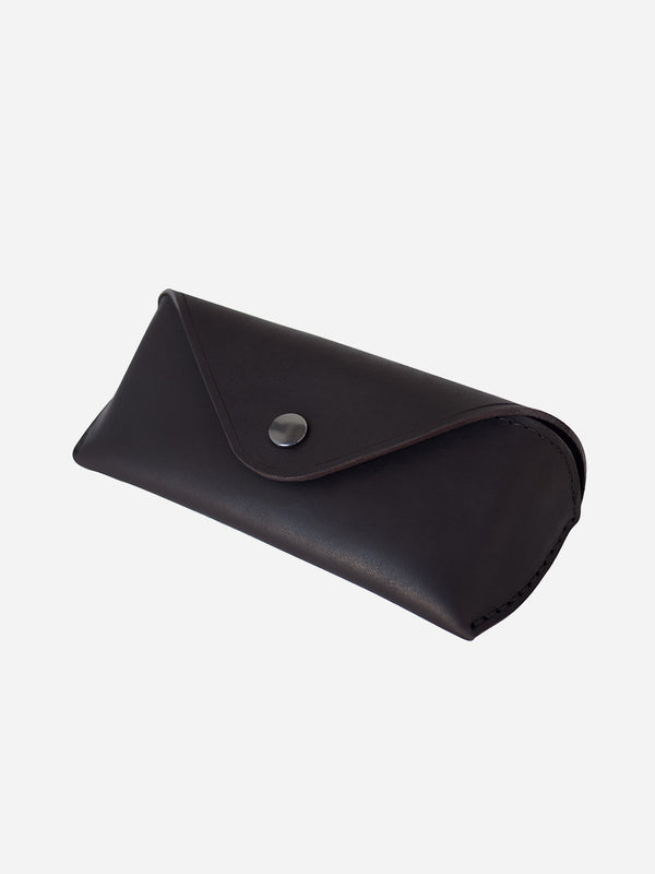 UMBER mens glasses case brown leather eyewear sleeve makr