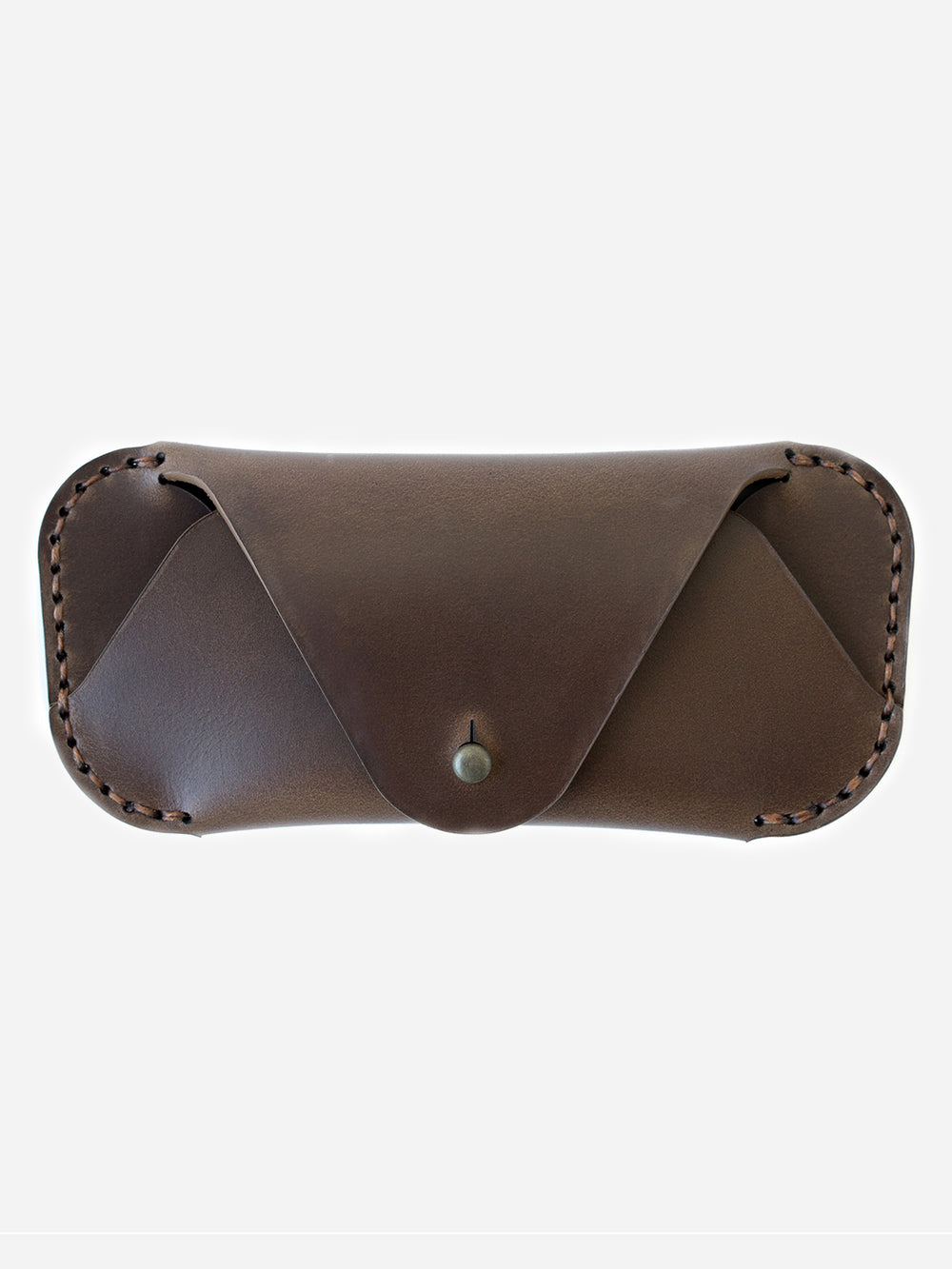 BARK mens glasses case brown leather eyewear sleeve makr
