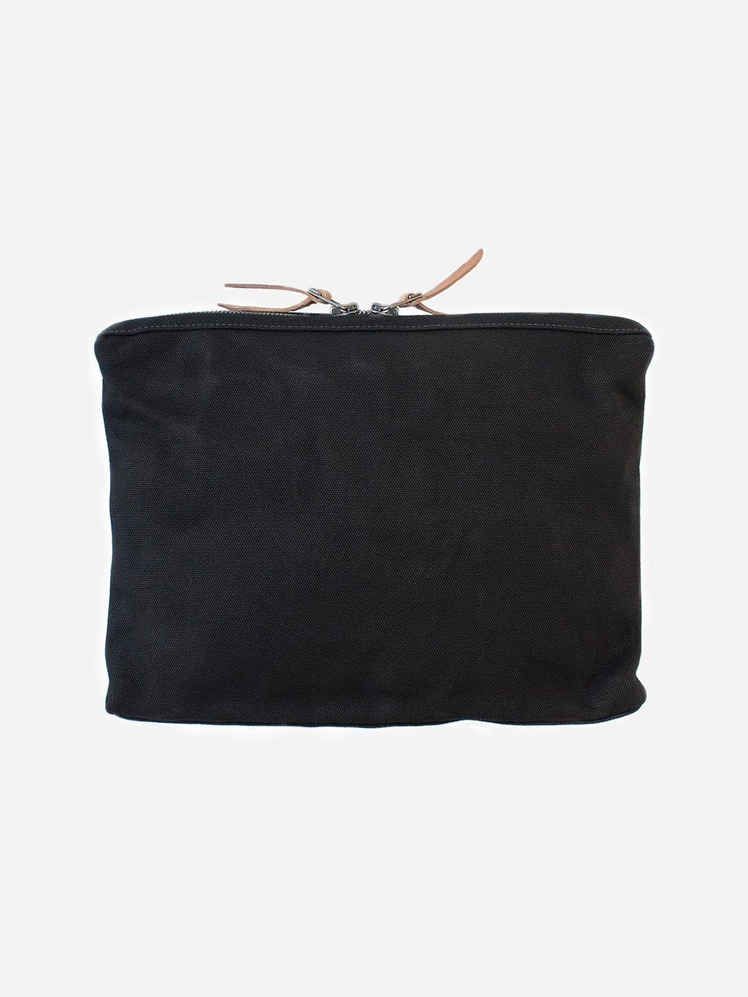 BLACK men and women unisex canvas organizational pouch organizer pouch large makr