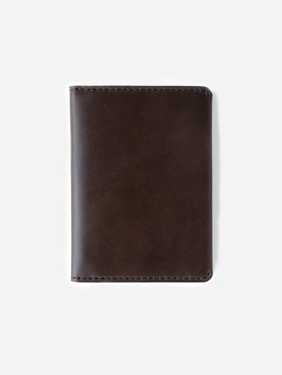 BARK mens leather wallet brown bifold passport wallet makr