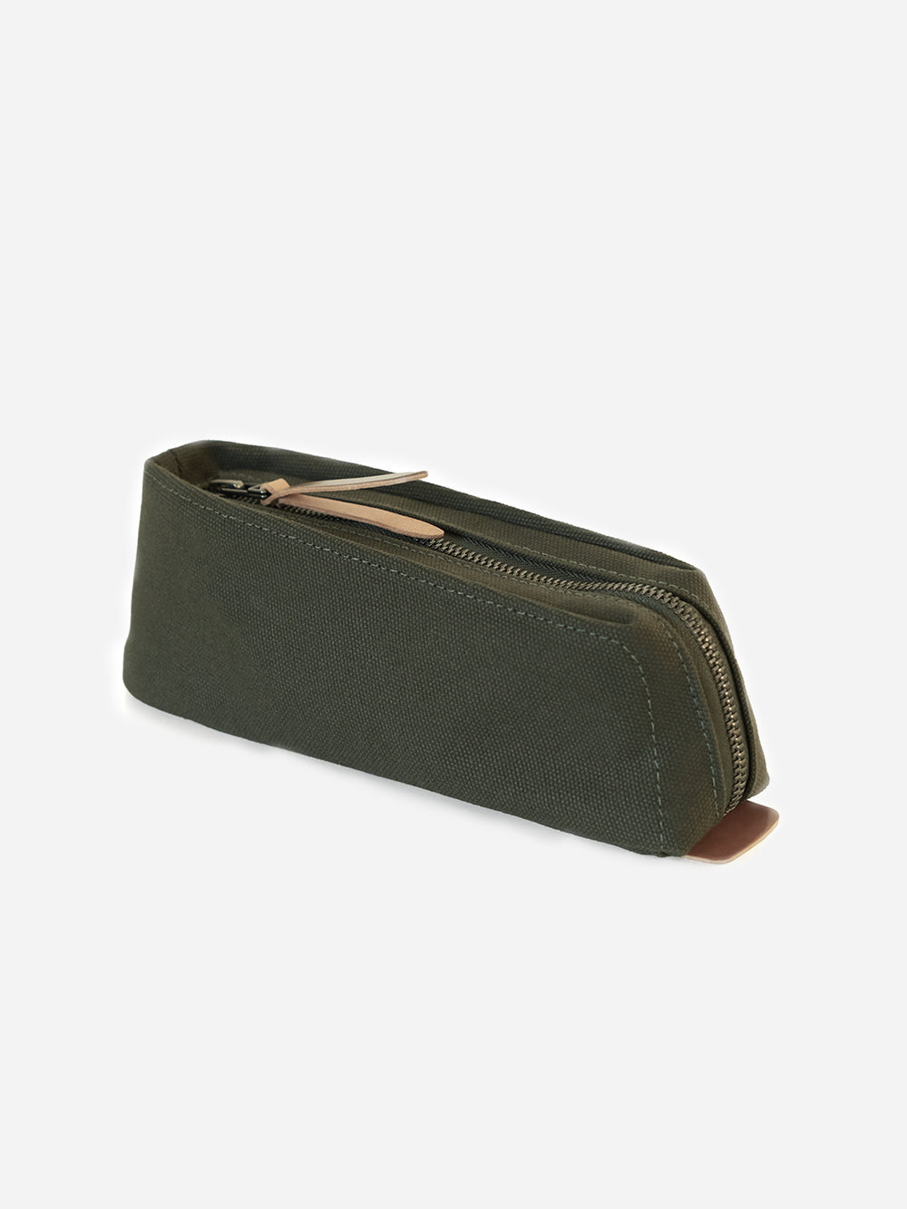 ARMY GREEN canvas pencil and pen case Makr