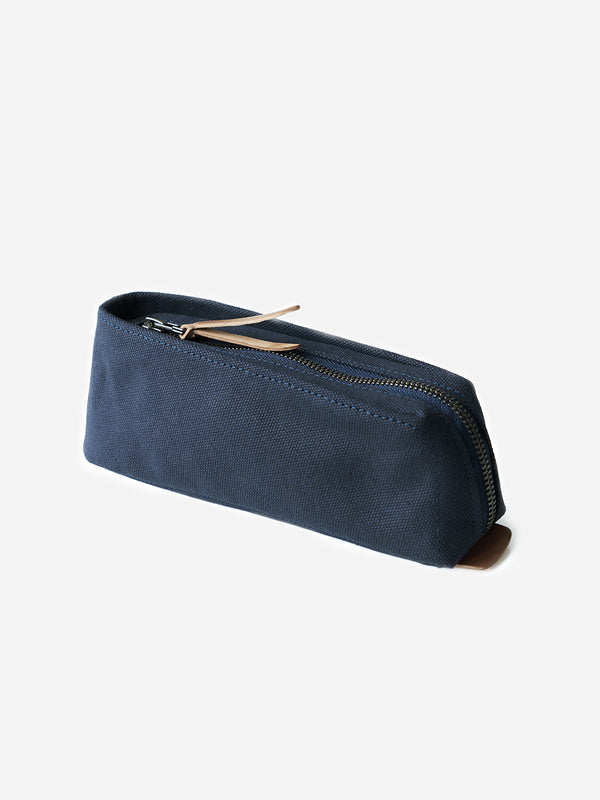 NAVY canvas pencil and pen case Makr