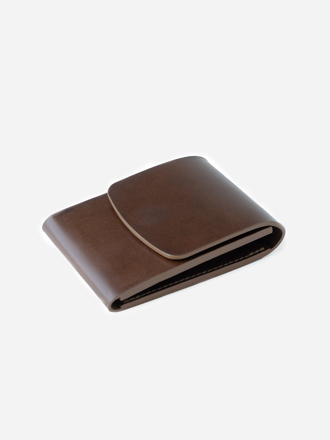 BARK mens tan leather wallet card holder weld vert pocket makr
