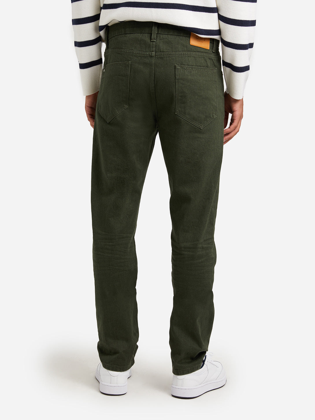 OLIVE GREEN jeans for men denim missions ons clothing