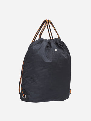 BLUE men and women unisex black sack nylon bag m/s drawstring mismo