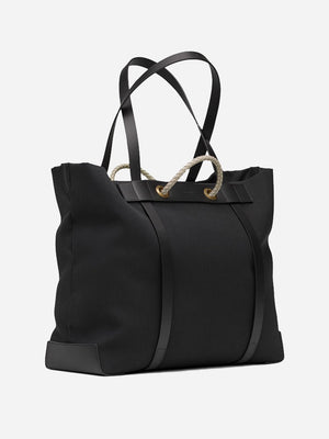COAL men and women unisex weekend bag black canvas and black leather m/s seaside mismo