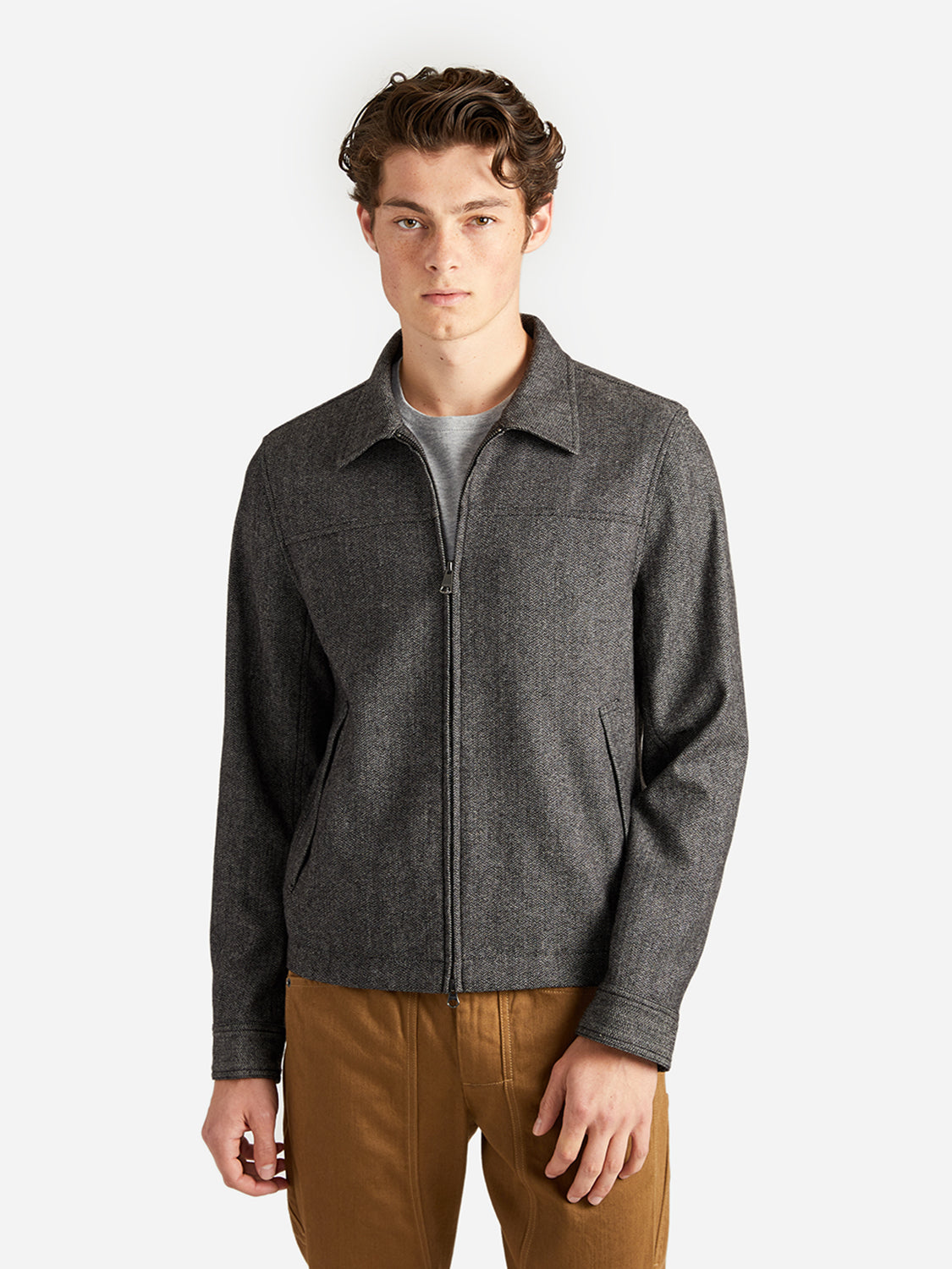 HERRINGBONE CONNOR CAR COAT