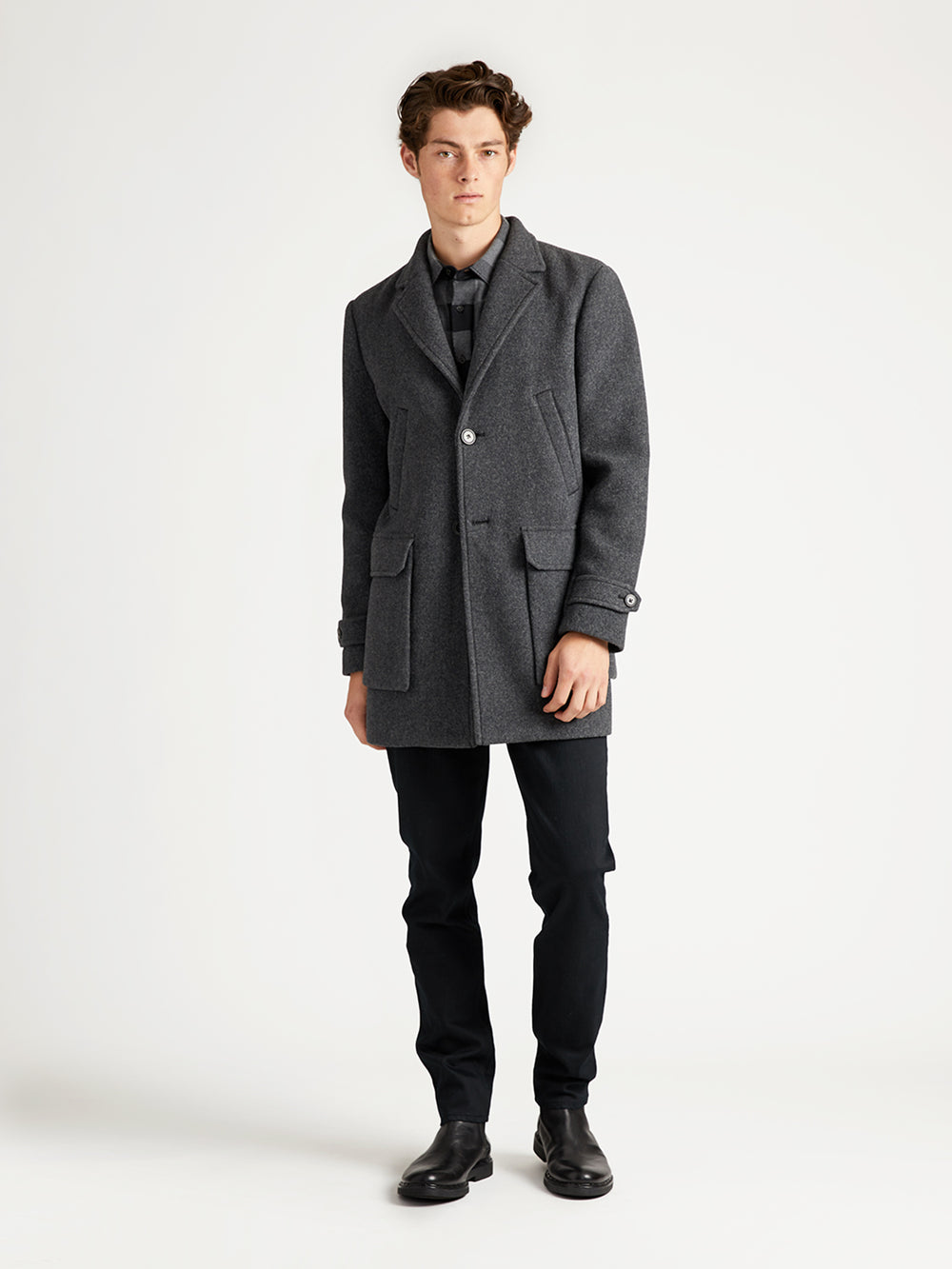 DOUBLE POCKET LONG COAT