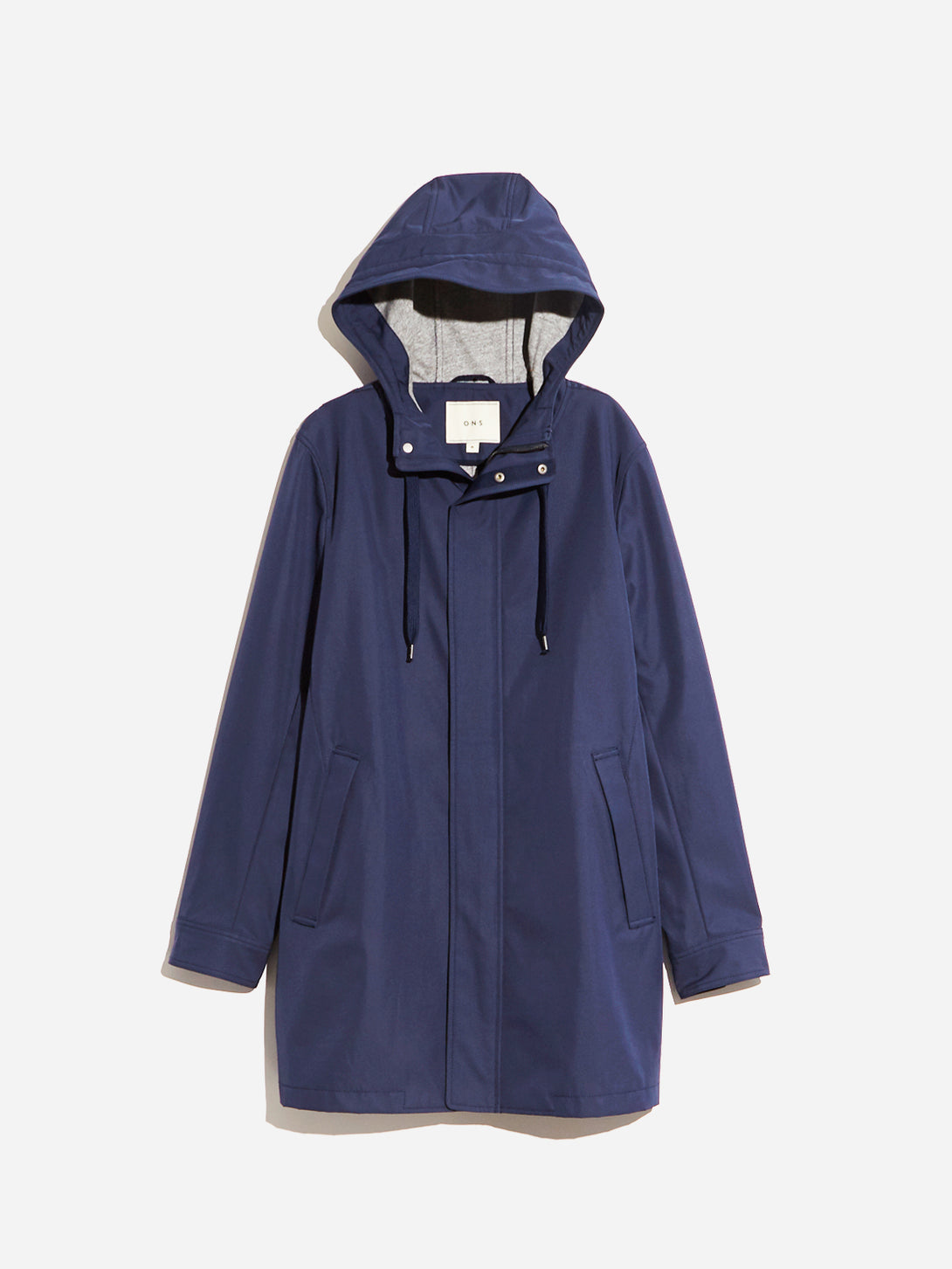 HOODED PARKER JACKET NAVY