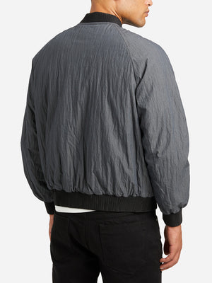 SLATE GREY bomber jacket mens jacket reversible bax bomber ons clothing