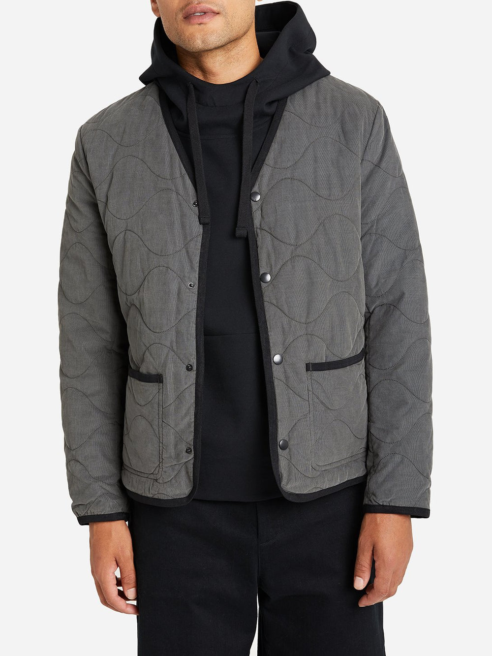 DARK SHADOW GREY jacket for men crescent jacket ONS clothing