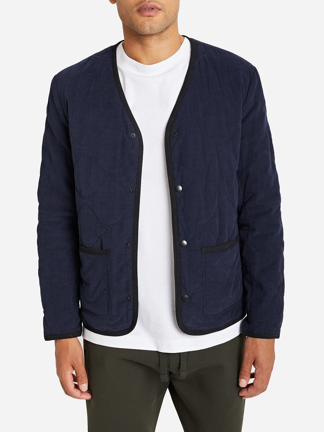 NAVY jacket for men crescent jacket ONS clothing