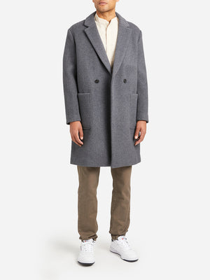 GREY mens coats marco overcoat ons clothing