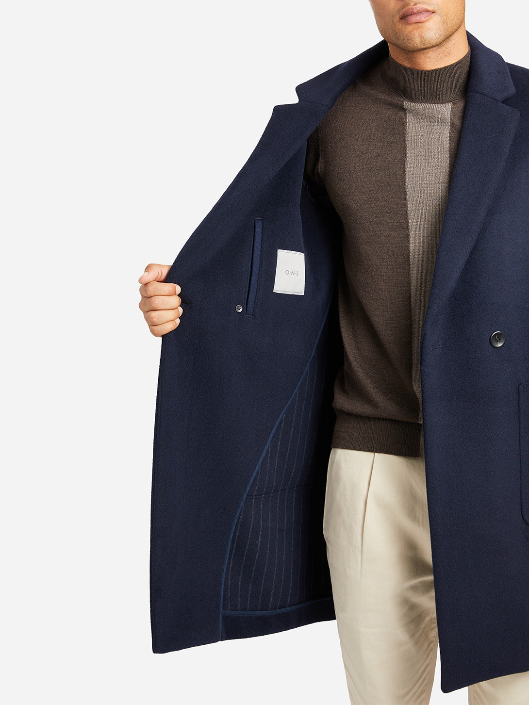 NAVY mens coats marco overcoat blue ons clothing