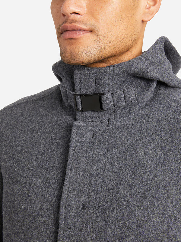 DARK GREY mens coats felix coat ons clothing
