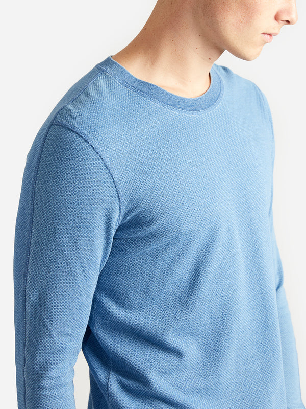 ons garage men's ls knit light blue