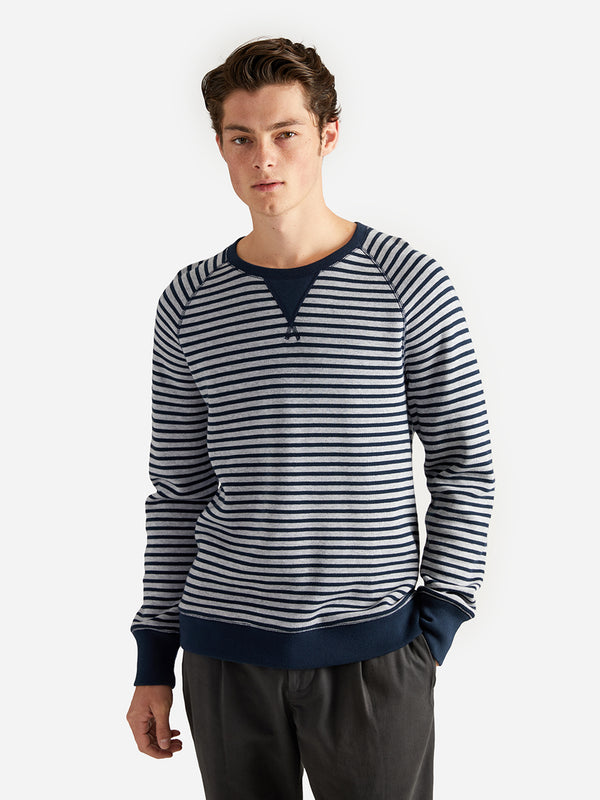 ons garage men's ls knit navy-heather