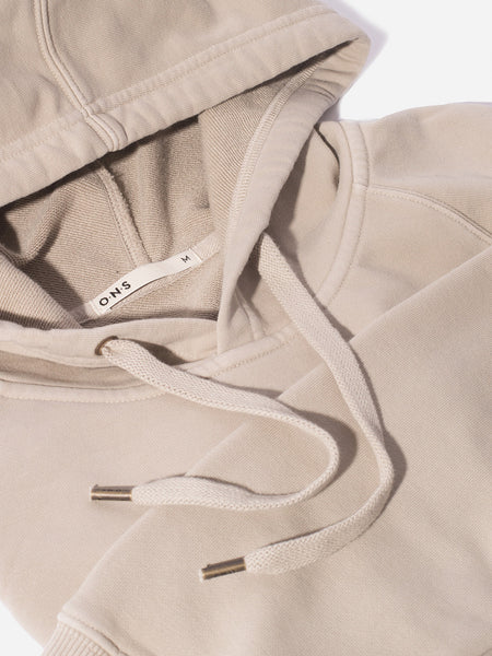 MENS FRENCH TERRY HOODIE SWEATSHIRT KHAKI