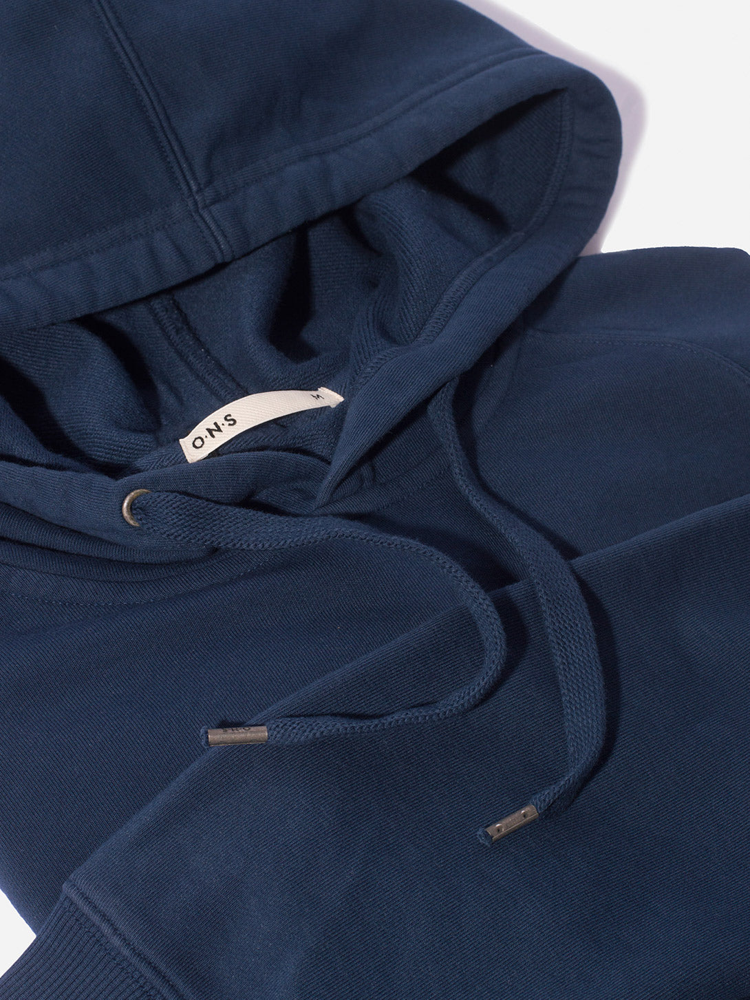 MENS FRENCH TERRY HOODIE SWEATSHIRT NAVY