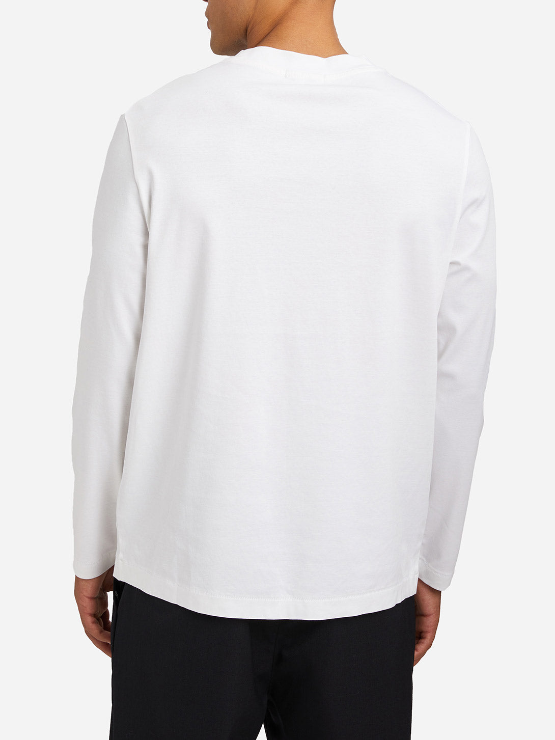 WHITE long sleeve tee mascot tee white ons clothing