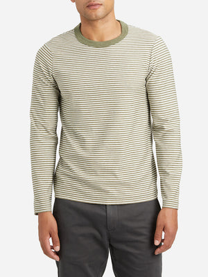 GREEN STRIPE long sleeve t shirt jasper striped long sleeve crew neck green stripe ons clothing