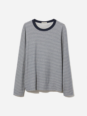 NAVY STRIPE long sleeve t shirt jasper striped long sleeve crew neck navy stripe ons clothing