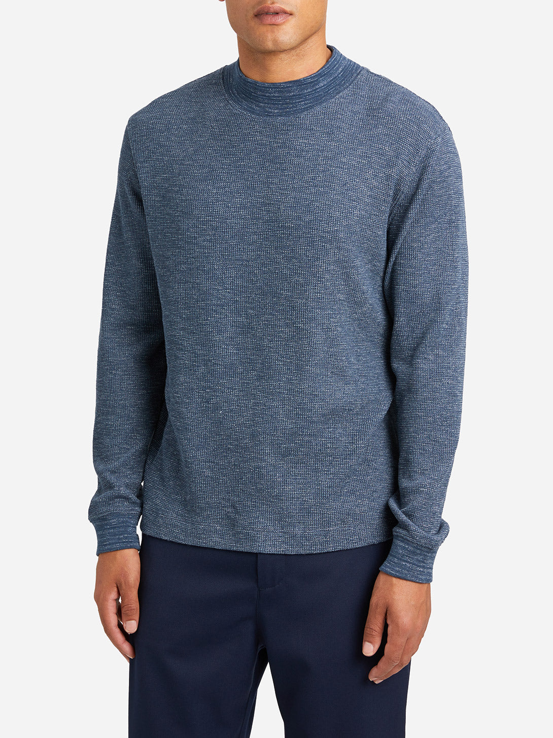 BLUE mens long sleeve t shirts gilman crew ons clothing
