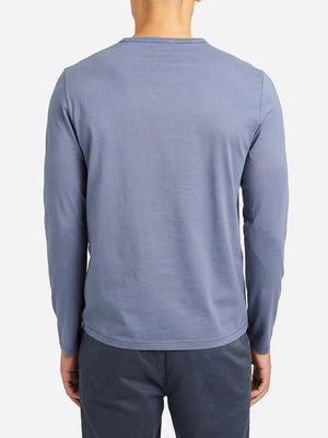 INDIGO BLUE long sleeve t shirt village crew neck long sleeve tee indigo blue