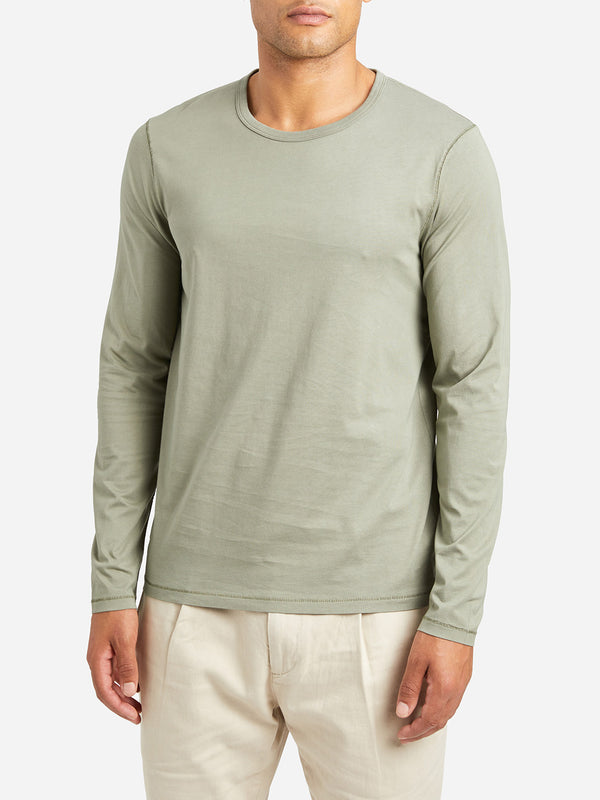 LIGHT GREEN long sleeve t shirt village crew neck long sleeve tee ltgreen