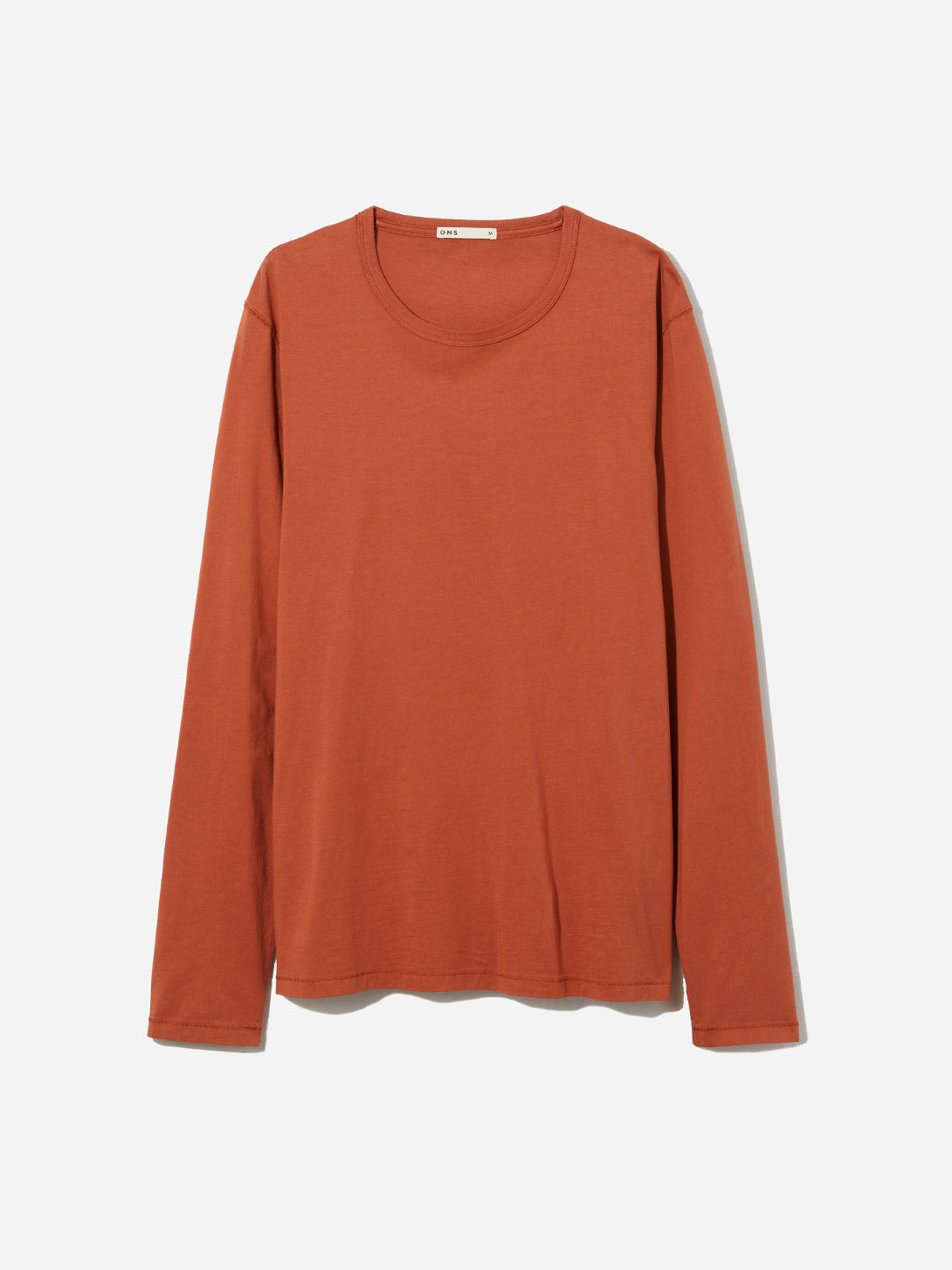 ORANGE long sleeve t shirt village crew neck long sleeve tee indigo orange