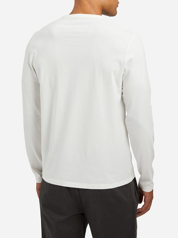 WHITE long sleeve t shirt village crew neck long sleeve tee white
