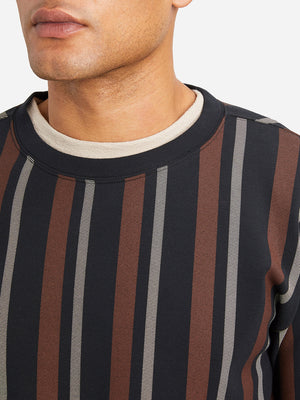 ORANGE STRIPE mens long sleeve t shirts angelo crew ons clothing