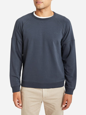 CHARCOAL GREY crew neck sweater for men dante crew by ons clothing
