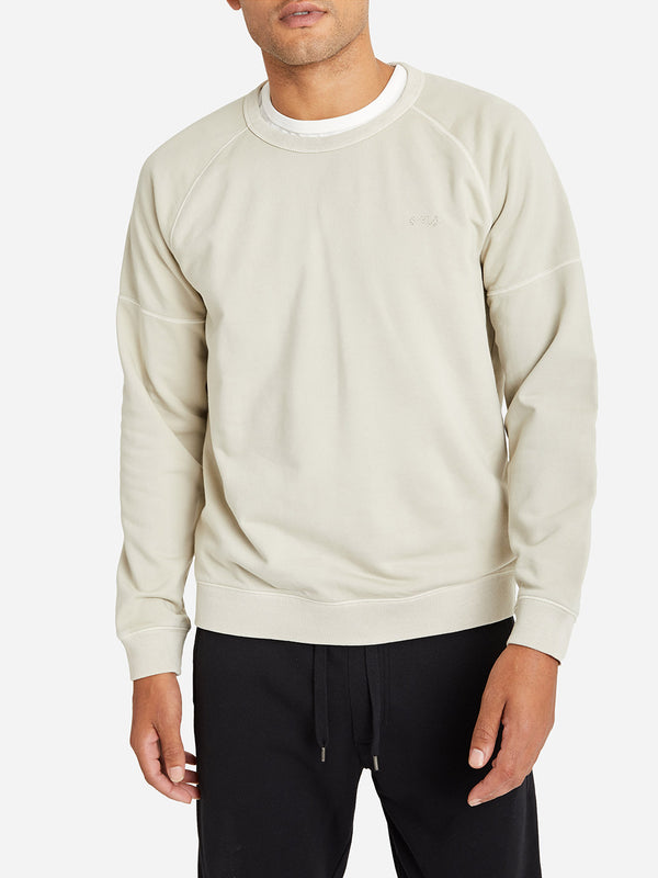 CEMENT GREY crew neck sweater for men deon crew by ons clothing