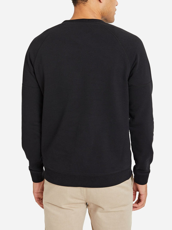 JET BLACK crew neck sweater for men deon crew by ons clothing