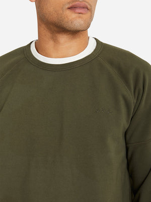OLIVE GREEN crew neck sweater for men DEON crew by ons clothing