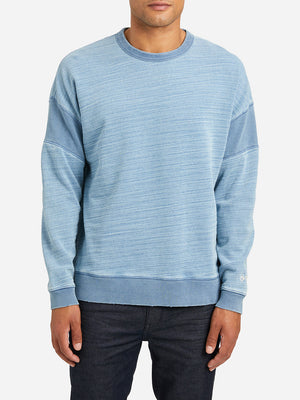 LIGHT INDIGO long sleeve crew neck t shirt darcy indigo pieced crew neck lt indigo