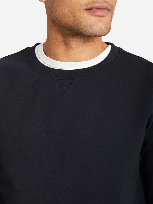 JET BLACK crew neck sweatshirt ons clothing rowan crew