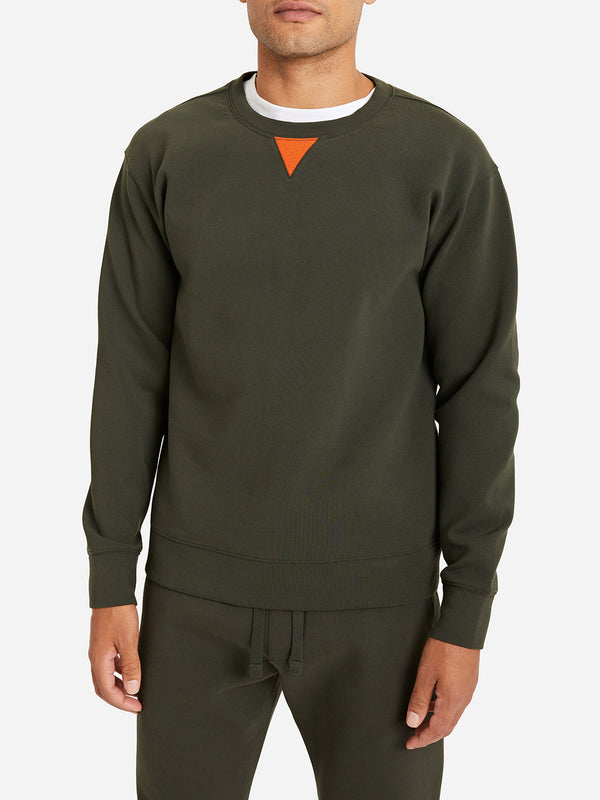 OLIVE GREEN crew neck sweatshirt ons clothing rowan crew