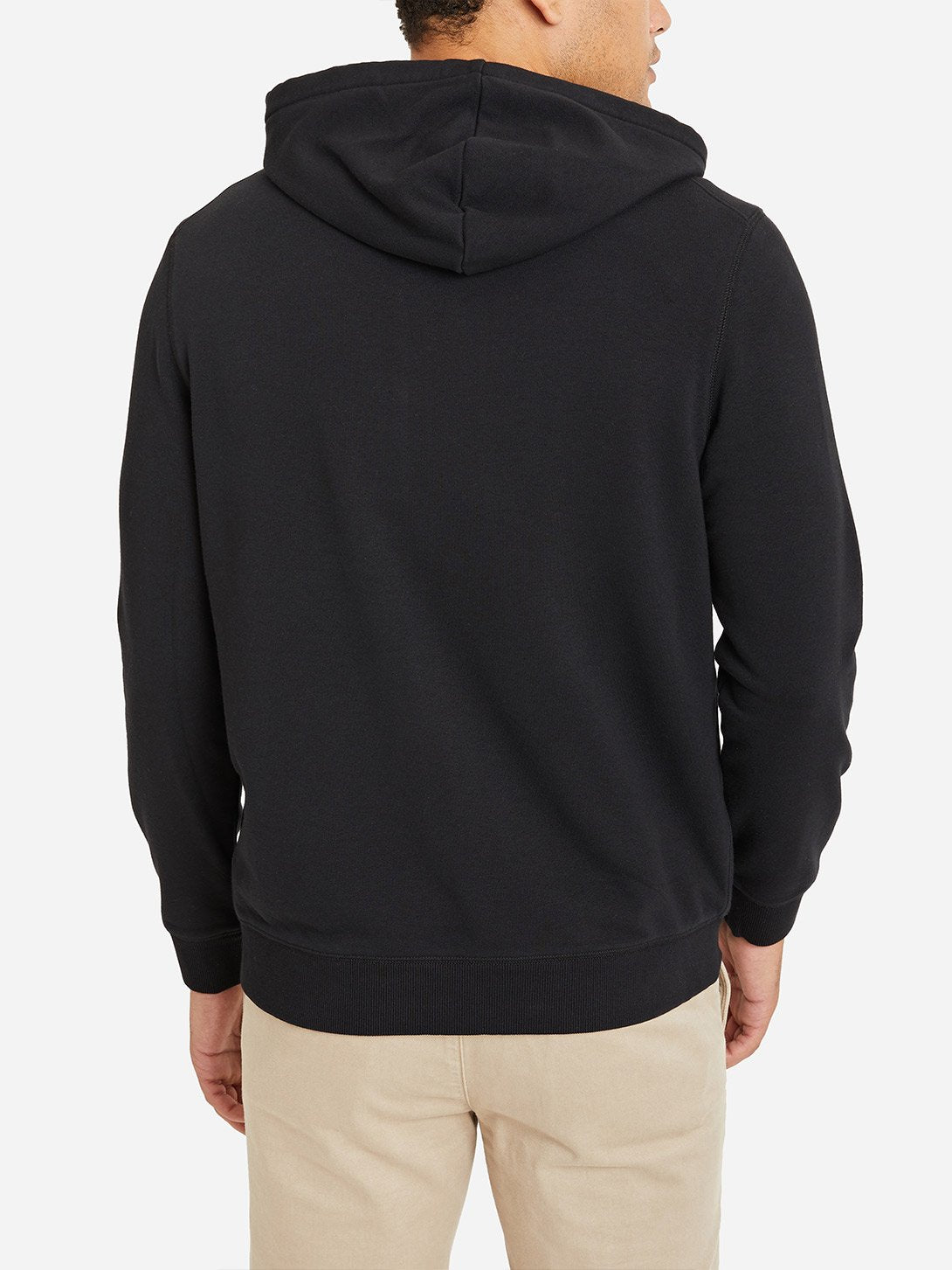JET BLACK zip up hoodie for men by ons clothing
