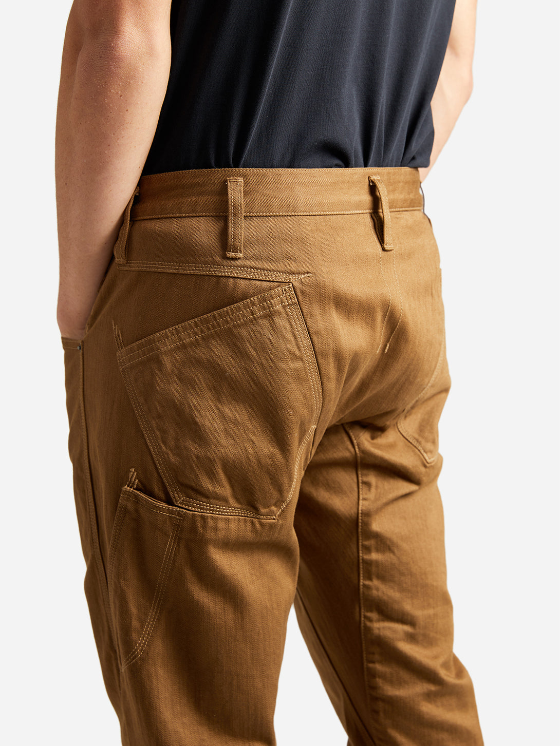 ons garage men's pants sepia