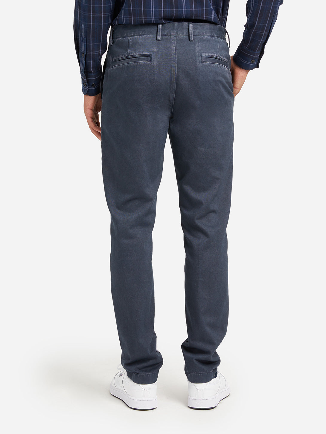 MID BLUE mens chino pants rider chino mid blue ons clothing