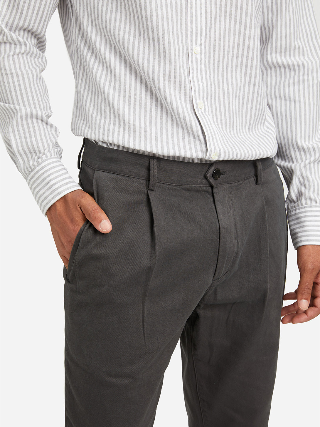 CHARCOAL GREY mens chino pants modern chino grey ons clothing